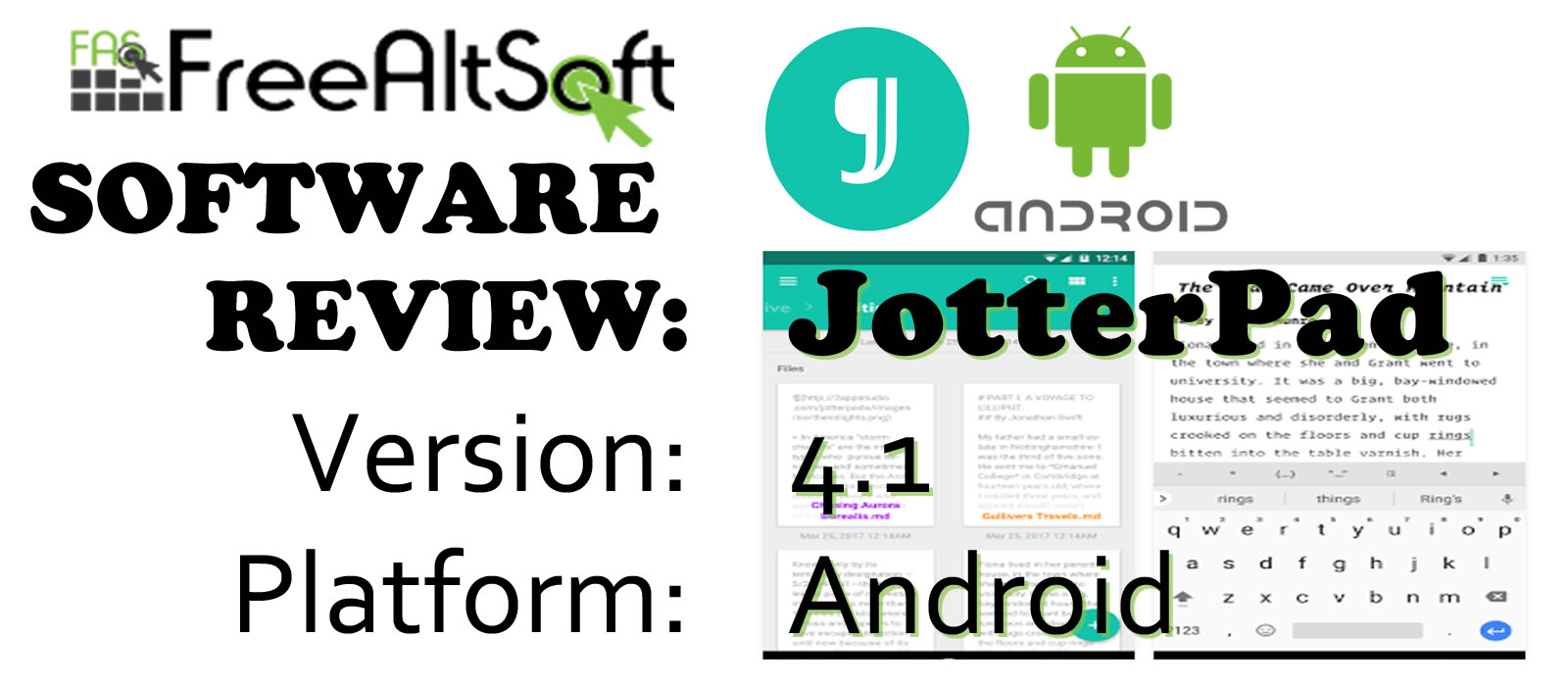Review On JotterPad, A Free Writing Software For Android Devices