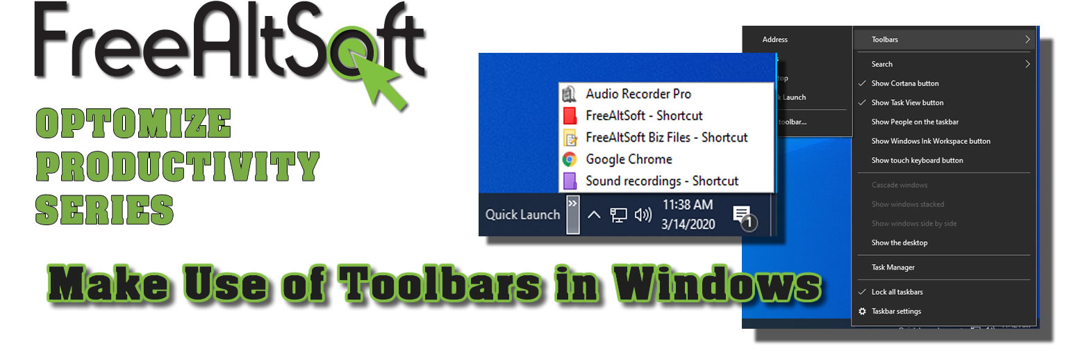 Make Use Of Toolbars In Windows